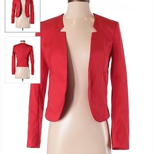 Bright Red H&M Blazer Jacket. Size 2. Like New.